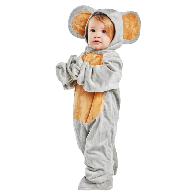 Baby Grey Mouse Romper | Halloween costumes for toddlers