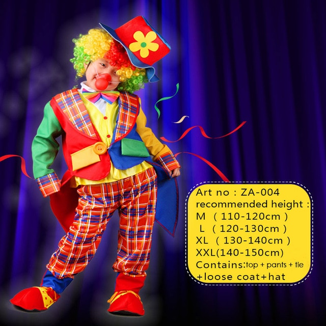 Circus Clown Costume for Men & Boys | Halloween Costume for Family