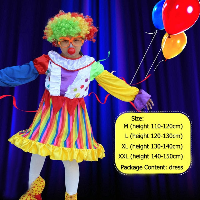Mom and Girl Circus Clown Costume | Halloween Family Costume
