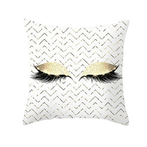 Fuwatacchi Makeup Eyelash Pattern Pattern Cushion Covers Colorful Pillow Cover Sofa Living room Chair Car Pillowcase 45cm*45cm