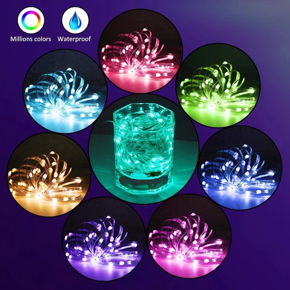 USB LED String Light Bluetooth App Control String Lights Lamp Waterproof Outdoor Fairy Lights for Christmas Tree Decoration