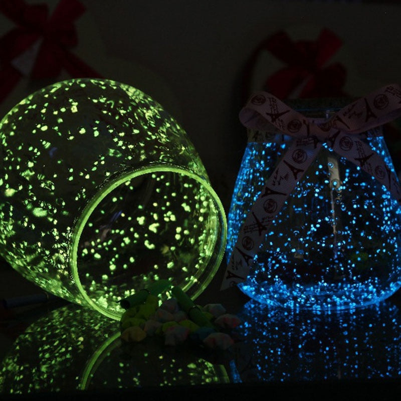 1Bag Luminous Particles Sand Colorful Fluorescent Glow Powder Glow In The Dark Home Party Decor DIY Decorations
