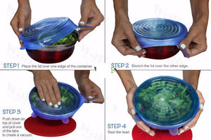 Silicon Stretch Lids Universal Bowl Pot Lid by WALFOS - PRETTY BUYERS
