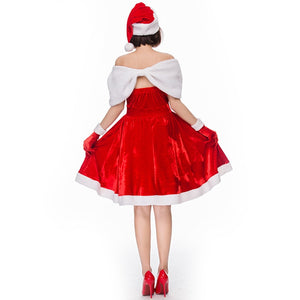 Xmas Costume For Women | Bandeau Santa Costumes for Halloween & Christmas