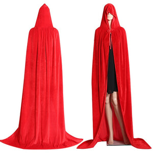 Long Vampire Hooded Cloak | Halloween Costume for Women
