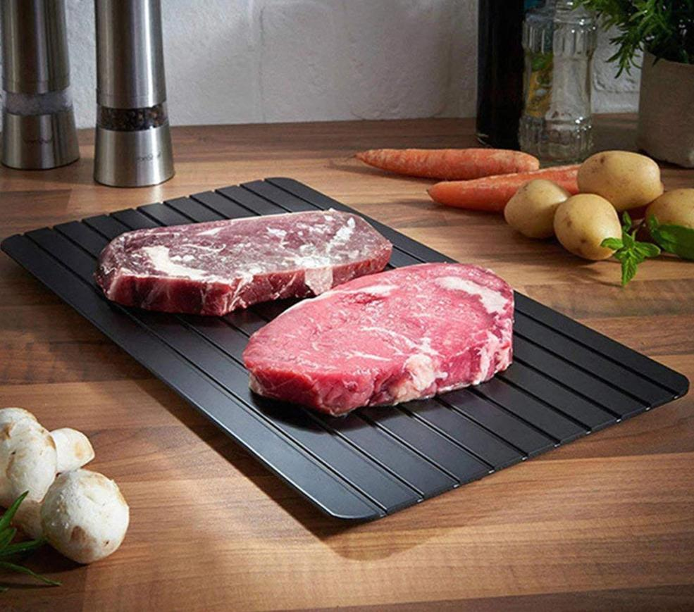 Best Defrosting Tray | Best Defrosting Tray | Express Defrost Tray How to defrost meat | www.prettybuyers.com | defrost without electricity | quick defrosting technology | easy thawing tray |meat thawing tray | breast milk bag defrosting tray