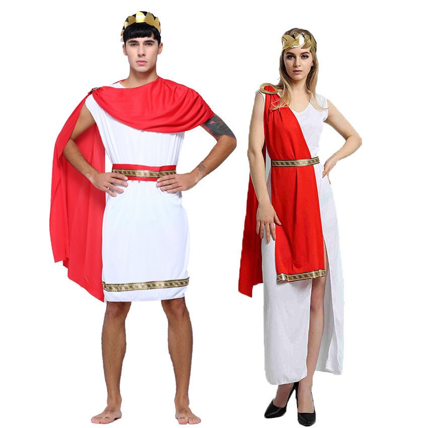Roman Officials & Greek Goddess Costume | Halloween Costume for Couples