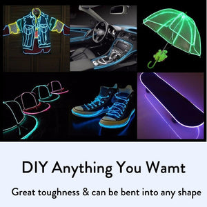 LED Neon Glow Cable Prop for Party Decoration | DIY Glowing Cables for Costumes