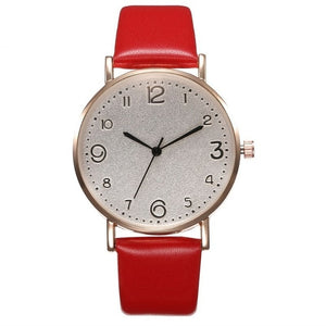 Luxury Leather Analog  Wrist Watch