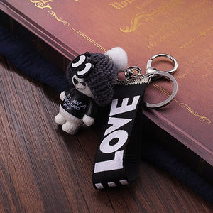 Cute Teddy Bear Key Chain 'THIS IS NOT A KOSCHINO TOY'