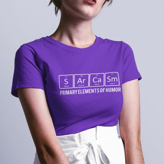 Funny Sarcasm T Shirt | Chemical Element Creative Printed Tops