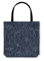 Tote Bag, Pattern With Irises
