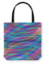 Tote Bag, Colorful Smooth Light Lines