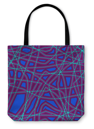 Tote Bag, Abstract Bright Pattern