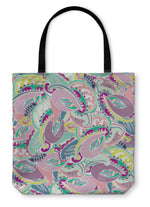 Tote Bag, Colourful Indian Paisley Pattern
