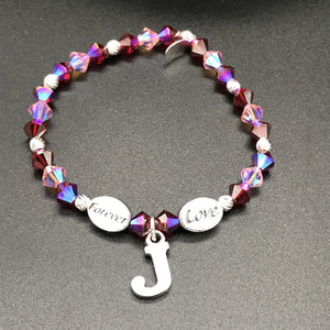 My Voice Bracelets - Customizable Message and Initial Charms