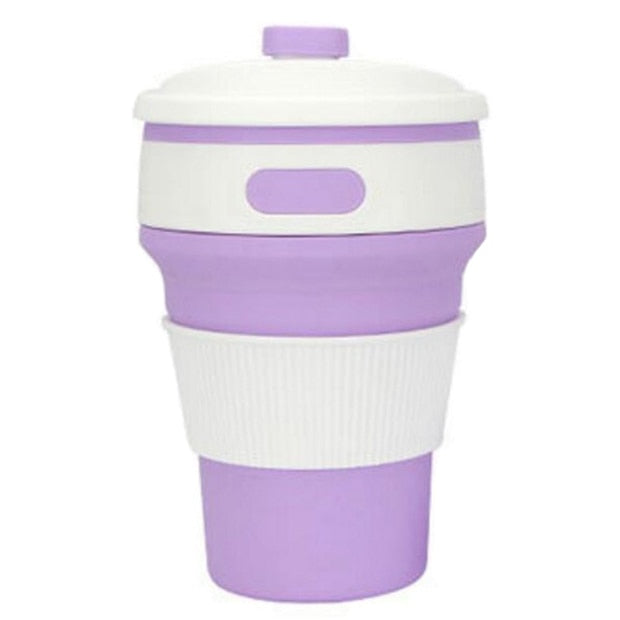 Collapsible Silicone Travel Mug.  BPA free.