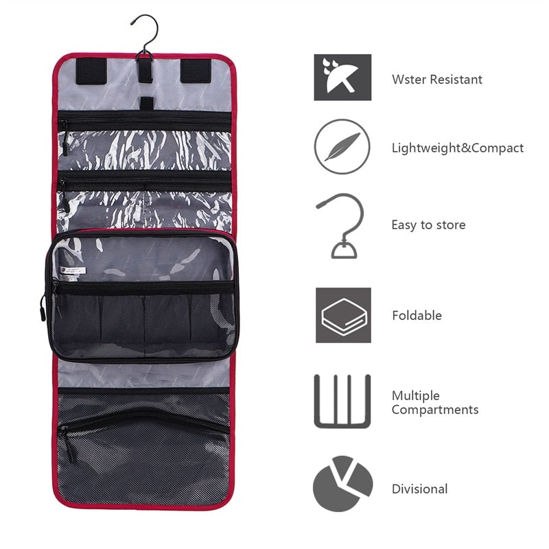 BAGSMART Waterproof, Folding / Hanging Travel Pouch for Toiletries / Make-Up