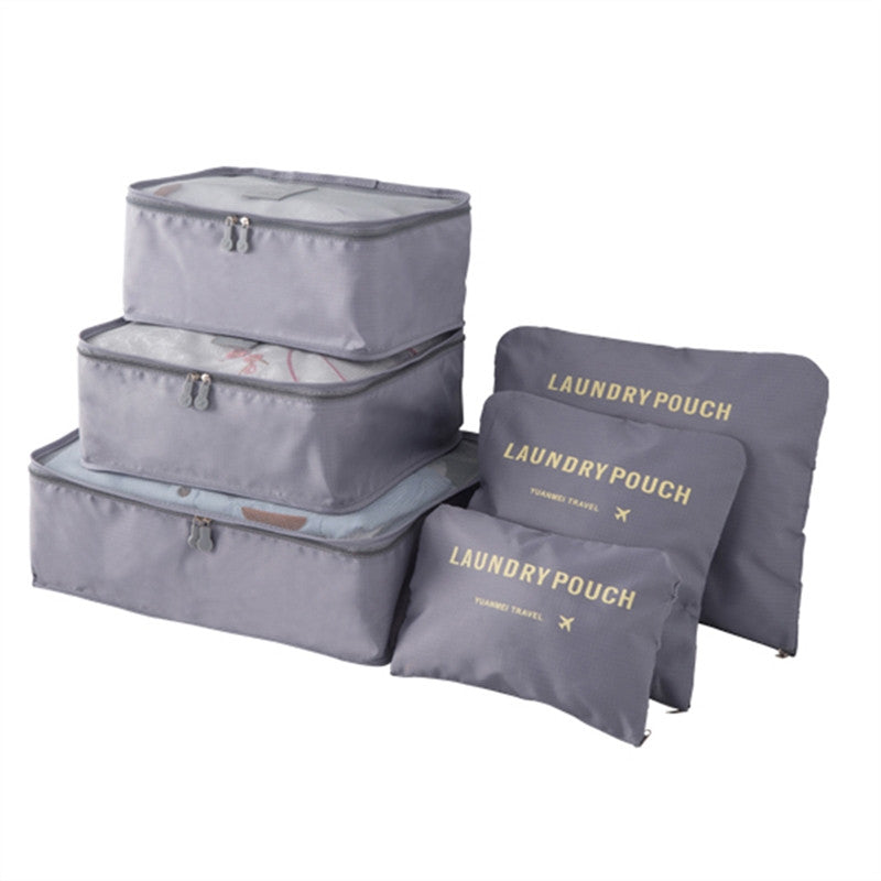 Luggage Packing Cubes - 6 Piece Set, Various Sizes