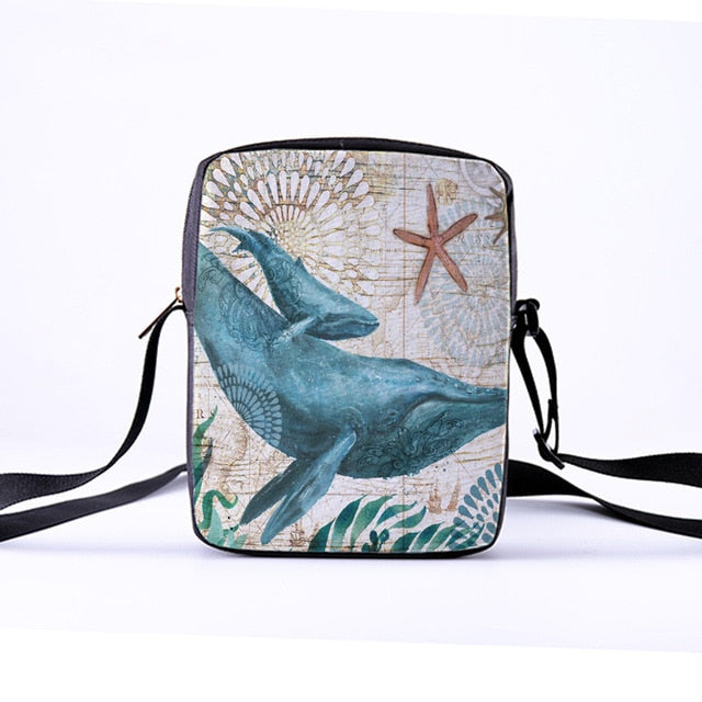 Marine Animal Print | Crossbody Bag for Women