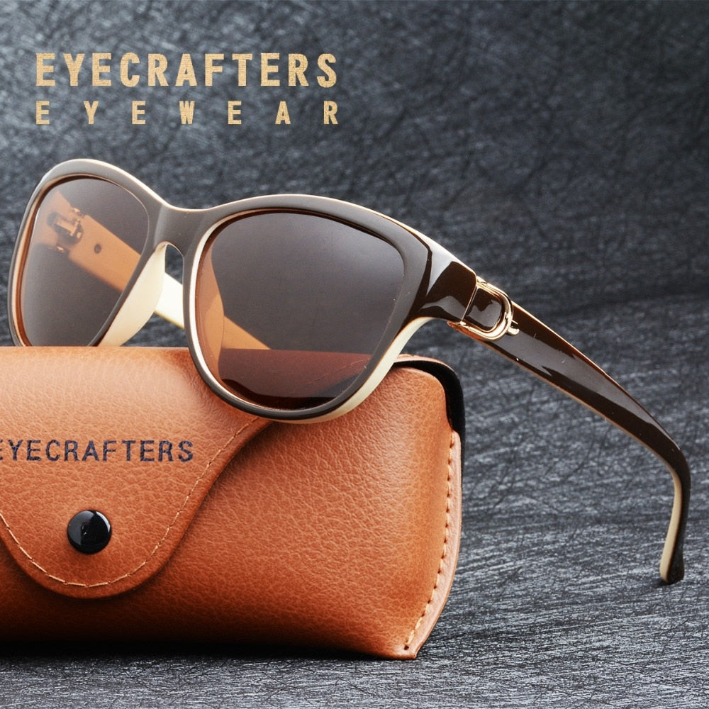 EYECRAFTERS Women's Luxury Cat Eye Polarized Sunglasses (UV)