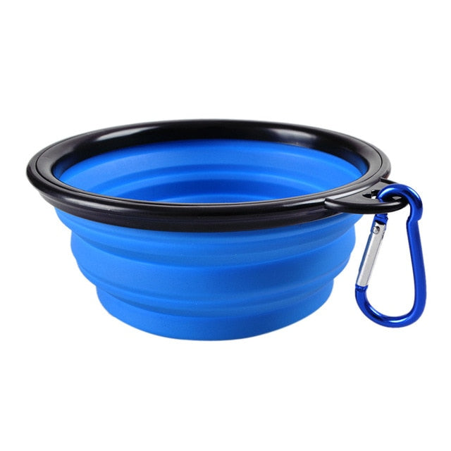 Collapsible Silicone Pets Bowls for Food & Water Feeding (BPA Free)