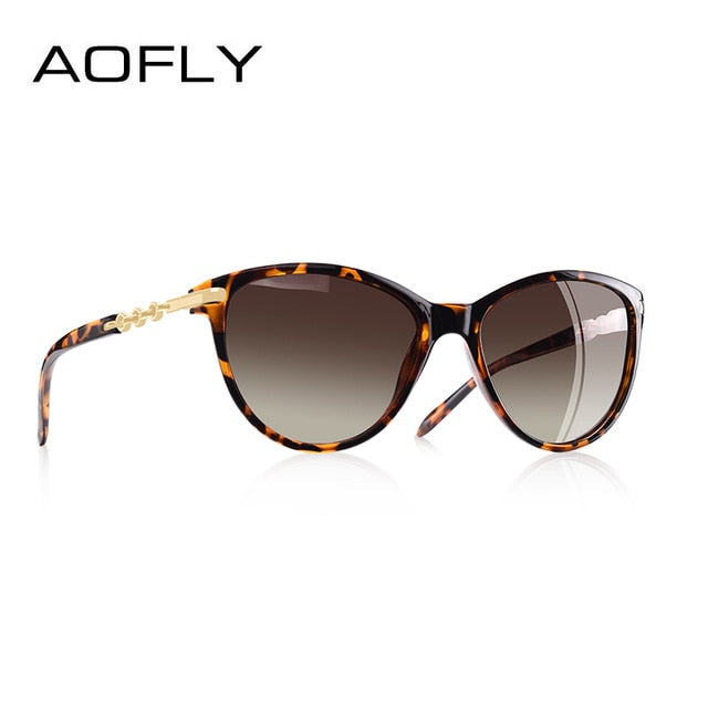 AOFLY Women's Cat Eye Sunglasses, Polarized