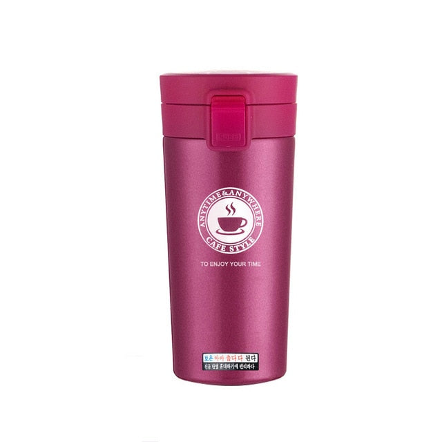 Stainless Steel Travel Thermos with Stainless Steel Interior.
