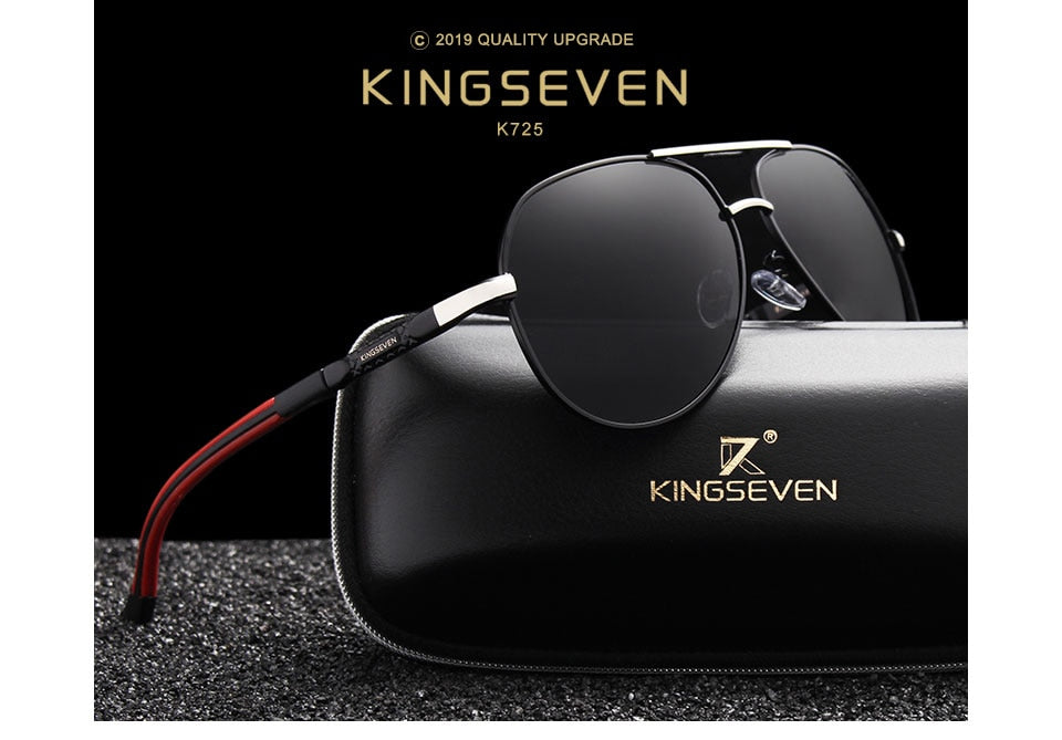 KINGSEVEN Men's Vintage Aviator Sunglasses (UV)