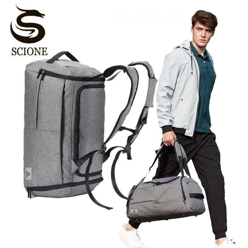 Convertible Travel Bag - Shoulder / Duffel / Backpack - with Safety Lock