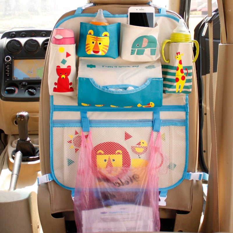 Foldable, Back of Seat Car Organizer for Kids