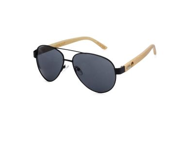 LAKEFRONT | BLACK : Bamboo Temple | Eco-Friendly Aviator Style Sunglasses