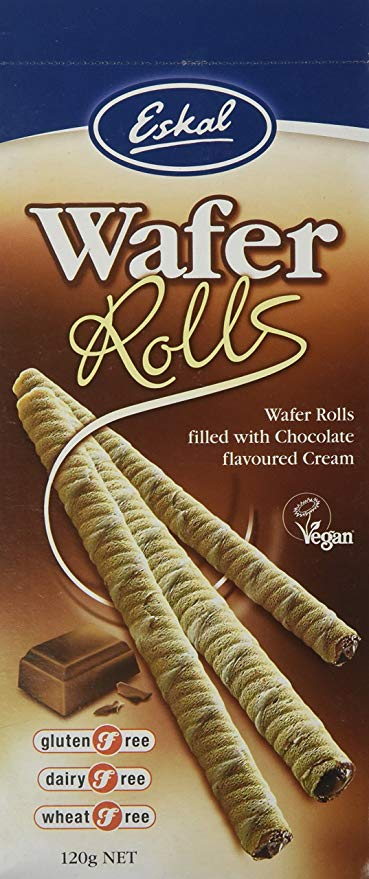 Eskal Chocolate Wafer Rolls - Fodmap Foods