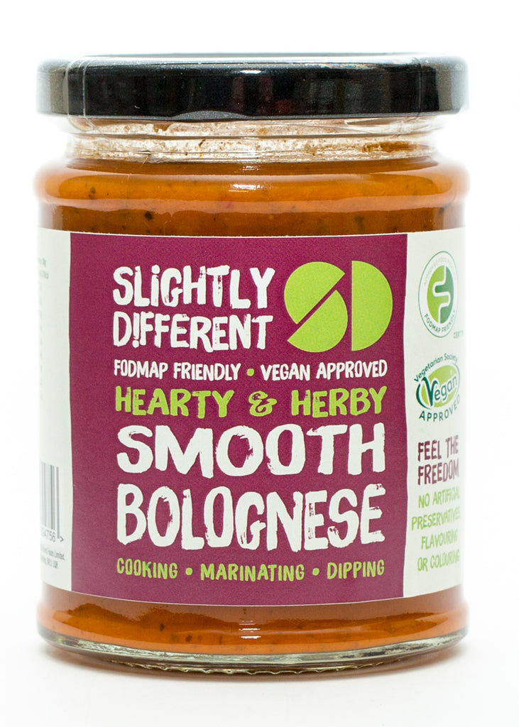 Slightly Different Foods - Smooth Bolognese Sauce - Fodmap Foods