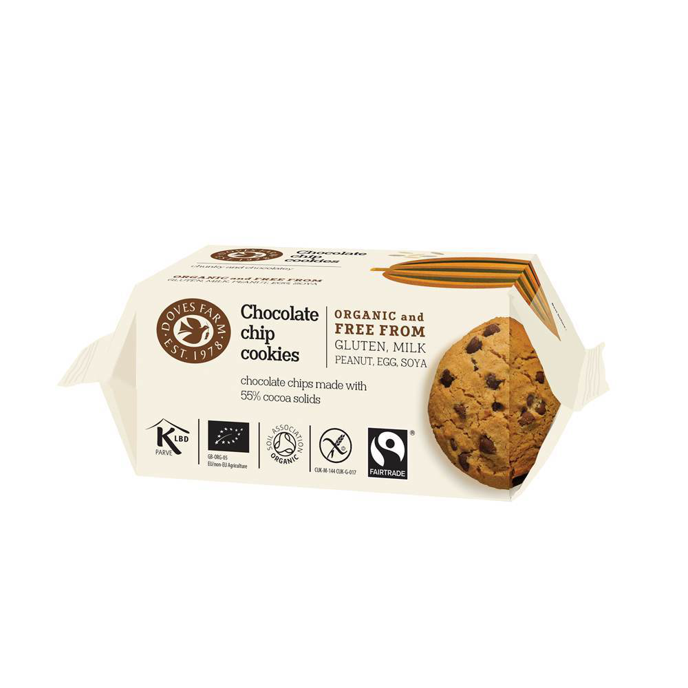 Doves Farm Chocolate Chip Cookies - Fodmap Foods
