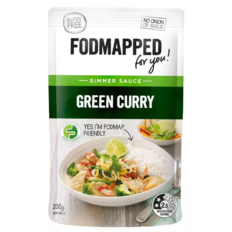 Fodmapped For You Green Curry Simmer Sauce - Fodmap Foods