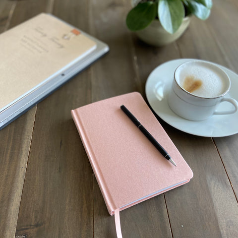 Do Good Paper Co. pink linen diary
