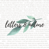 Letters & Nature