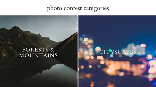 Do Good Paper Co. photo submission categories