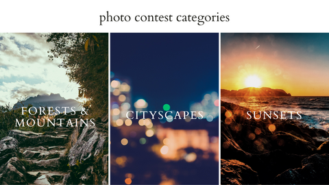 Do Good Paper Co. Photo contest categories