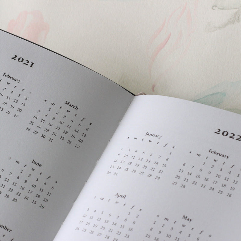 2021 Planner and Notebook - 2021 and 2022 yearly calendars