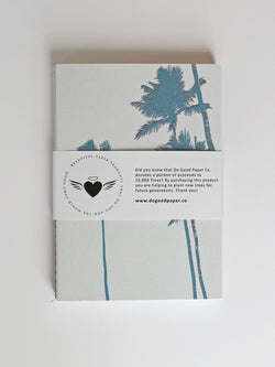 Set of 3 small soft cover notebooks - Beach Blue collection