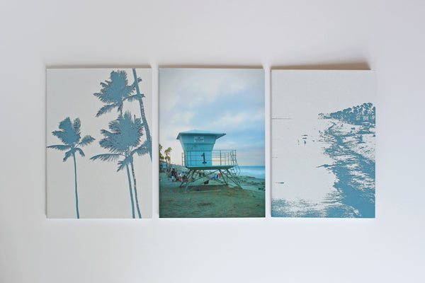 Set of 3 B6 soft cover notebooks - Beach Blue collection