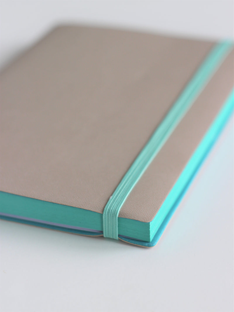 Bullet journal - grey covers with mint accents