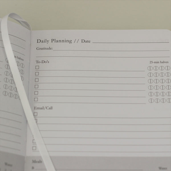 Mindful Productivity Planner - undated planner, day planning to-do's, mint