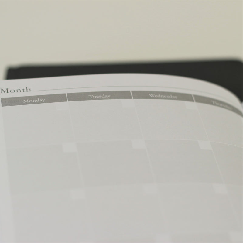 Mindful Productivity Planner - undated calendar, mint