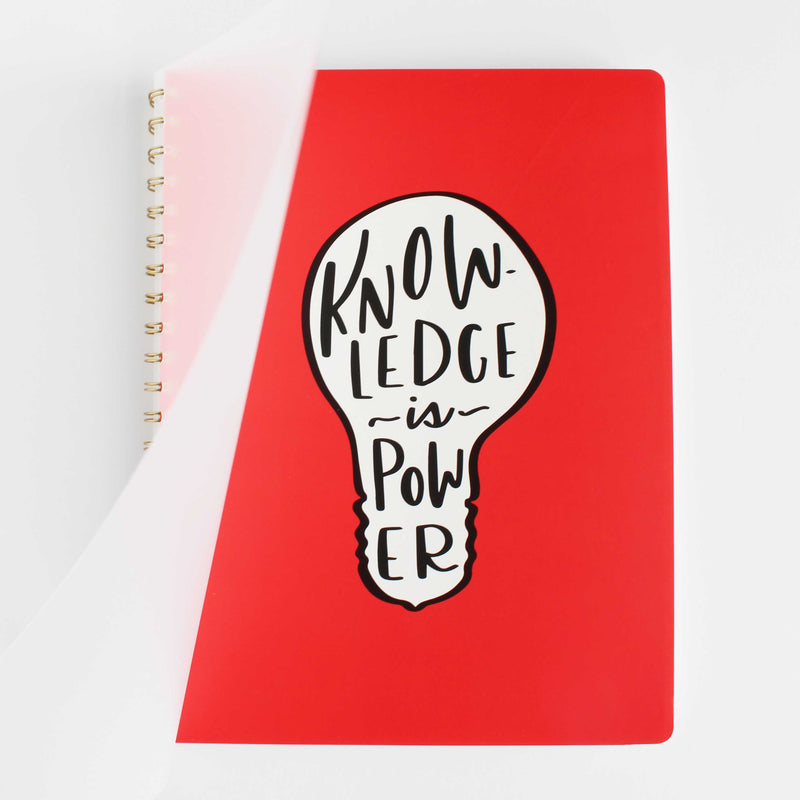 A4 large spiral notebook - Knowledge is Power notebook collection