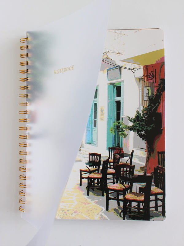 Large Spiral Notebook (A4) - Mediterranean Vibes