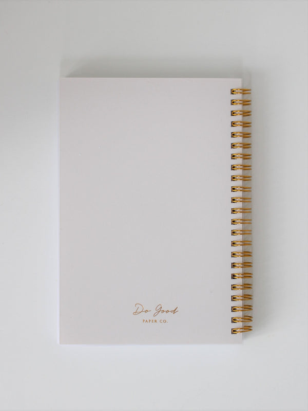 Small spiral notebook - Beautiful Life collection - back cover