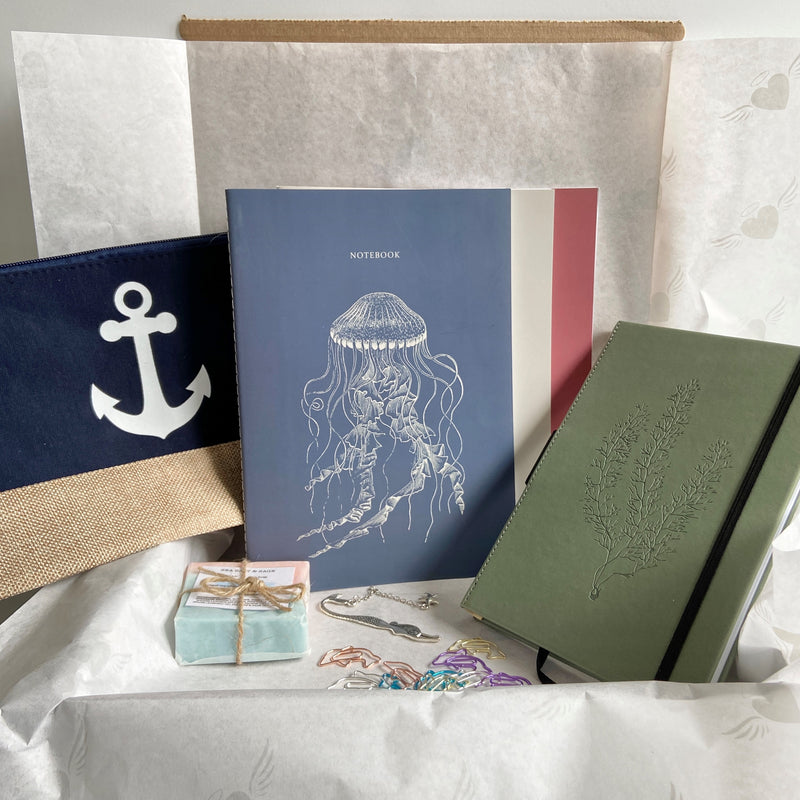Spring 2020 Subscription Box, sea-themed stationery and other curated products